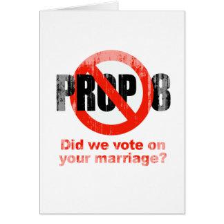 El APOYO ANTI 8 - hicimos votamos sobre su boda Fa Tarjetón