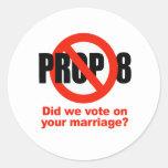 ¿El APOYO ANTI 8 - votamos sobre su boda? Pegatinas