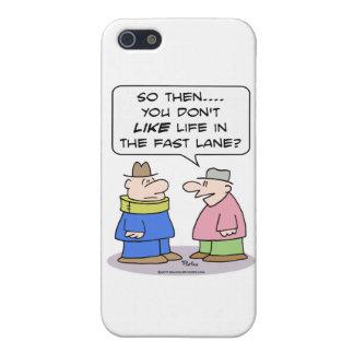 el apoyo de cuello del carril rápido de la vida iPhone 5 fundas