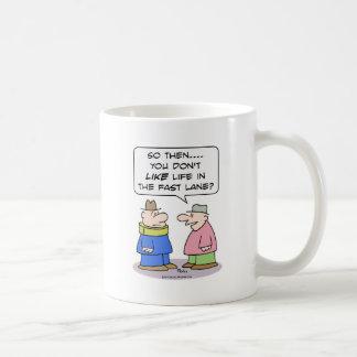 el apoyo de cuello del carril rápido de la vida taza de café