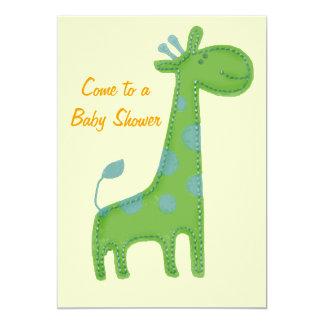 """El Applique de la jirafa viene a una fiesta de Invitación 5"""" X 7"""""""