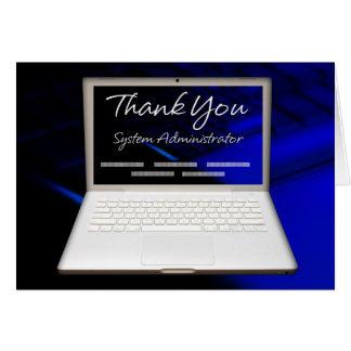 el aprecio del administrador 43System y le Tarjeta De Felicitación