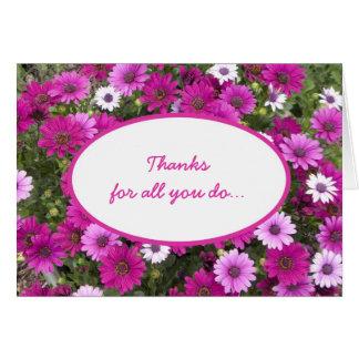 El aprecio del empleado le agradece cardar tarjeta de felicitación