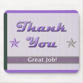 El aprecio del empleado le agradece tapetes de ratón