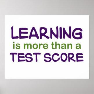 El aprendizaje es más que un poster de la puntuaci póster