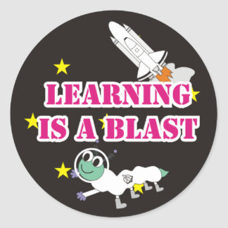 El aprendizaje es pegatina de la ráfaga