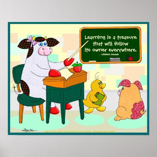 El aprendizaje es un tesoro póster