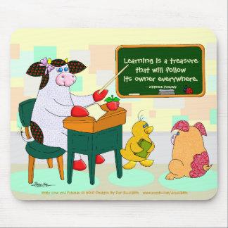 El aprendizaje es un tesoro alfombrillas de raton