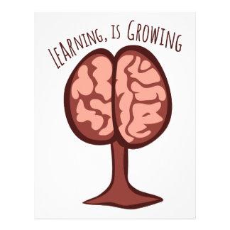 El aprendizaje, está creciendo membrete personalizado