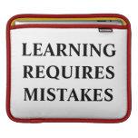 El aprendizaje requiere errores fundas para iPads