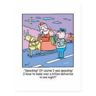 El apresurar cogido Santa del dibujo animado del Tarjeta Postal