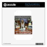 El apresurar de Heisenberg del perro del conocimie iPod Touch 4G Calcomanía