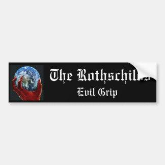 El apretón del mal de Rothschilds Pegatina Para Auto