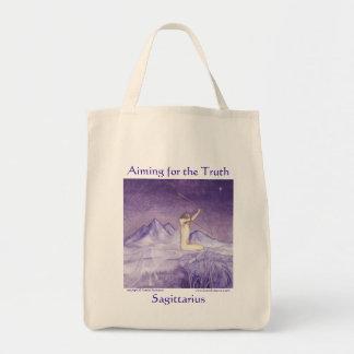 El apuntar para la verdad - sagitario bolsas