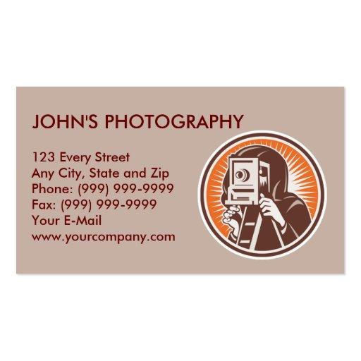 el apuntar shoting de la cámara del fotógrafo del tarjetas de visita