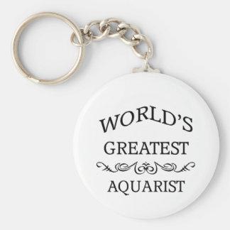 El aquarist más grande del mundo llavero personalizado