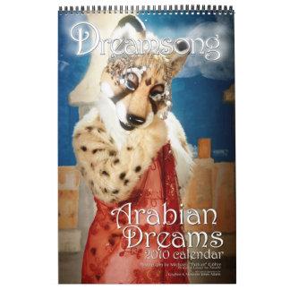 El árabe soña 2010 calendarios