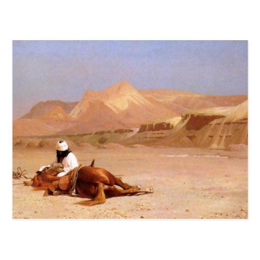 El árabe y su corcel postal