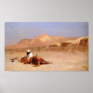 El árabe y su corcel póster