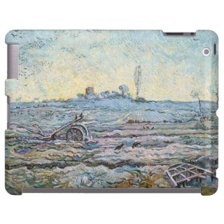 El arado y la grada de Vincent van Gogh Funda Para iPad