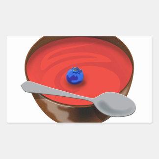El arándano en un cuenco de sopa del tomate - rectangular altavoces