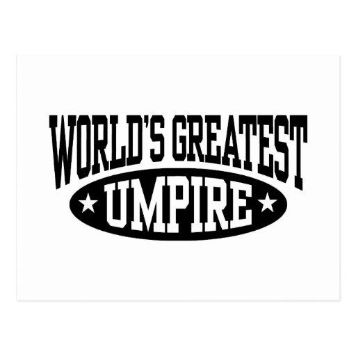 El árbitro más grande del mundo tarjetas postales