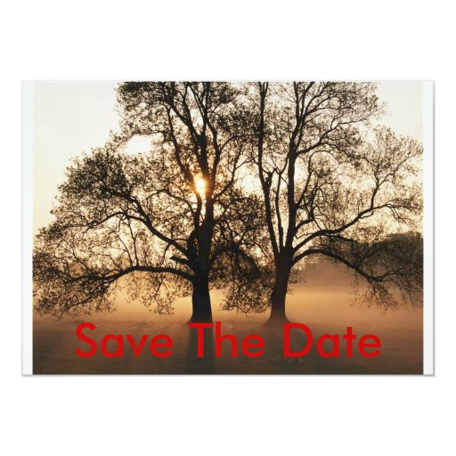 El árbol, ahorra la fecha invitación 12,7 x 17,8 cm