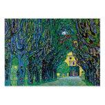 El árbol alineó arte de la pintura de la avenida d tarjeta de visita