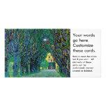 El árbol alineó arte de la pintura de la avenida plantilla para tarjeta de foto