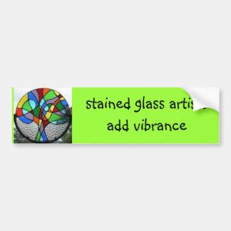 el árbol, artistas del vitral añade vibrance pegatina para auto