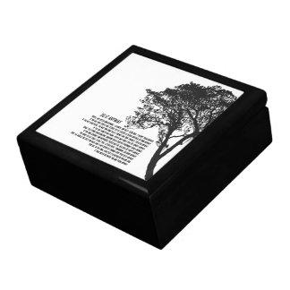 El árbol blanco y negro lo hace de todos modos joyero cuadrado grande