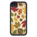 El árbol colorido del otoño de la caída sale del iPhone 5 carcasas