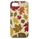 El árbol colorido del otoño de la caída sale del iPhone 5 funda