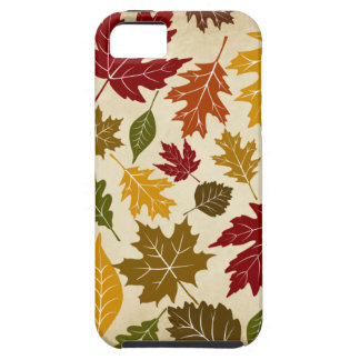 El árbol colorido del otoño de la caída sale del iPhone 5 fundas