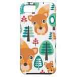 El árbol colorido del zorro embroma el caso del funda para iPhone SE/5/5s
