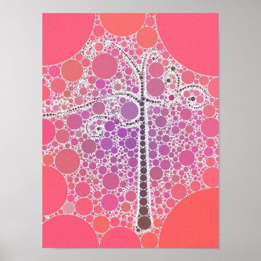 El árbol colorido enrrollado de la voluta circunda impresiones