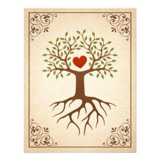 El árbol con la reunión de familia adornada del ma invitación personalizada