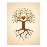 El árbol con la reunión del corazón y de familia d invitaciones personales