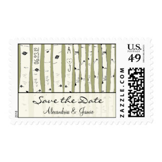 El árbol de abedul poner crema elige color de sellos