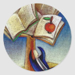 El árbol de aprendizaje etiqueta redonda