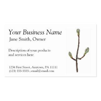 El árbol de arce florece la tarjeta de visita