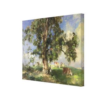 El árbol de ceniza viejo (aceite en lona) lona envuelta para galerías