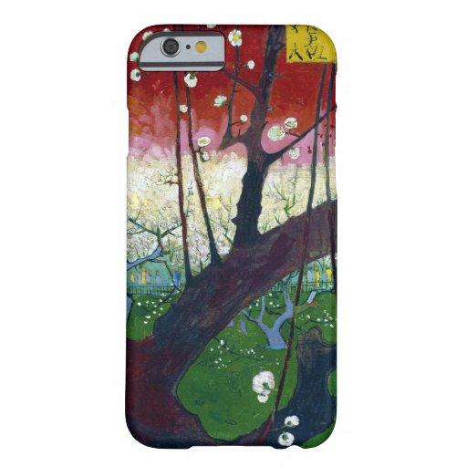 El árbol de ciruelo floreciente de Van Gogh Funda De iPhone 6 Barely There