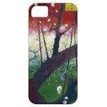El árbol de ciruelo floreciente de Van Gogh iPhone 5 Cárcasa