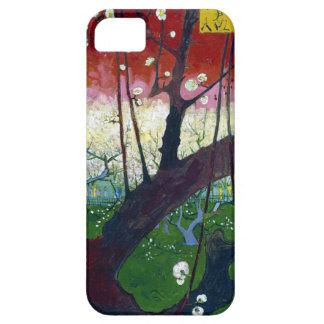 El árbol de ciruelo floreciente de Van Gogh iPhone 5 Carcasa