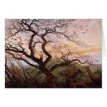 El árbol de cuervos, 1822 tarjeta