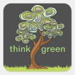 El árbol de Eco piensa al pegatina verde