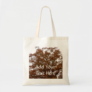El árbol de encargo del otoño sale de la foto de l bolsa de mano