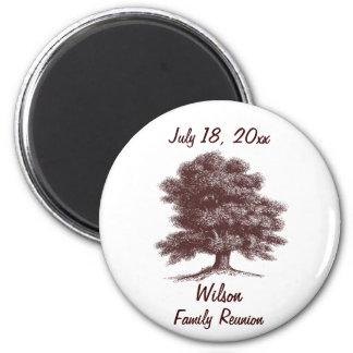 El árbol de familia imán redondo 5 cm