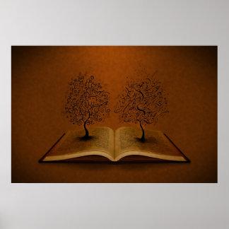 El árbol de GiddyUp y el árbol de la escritura de  Póster